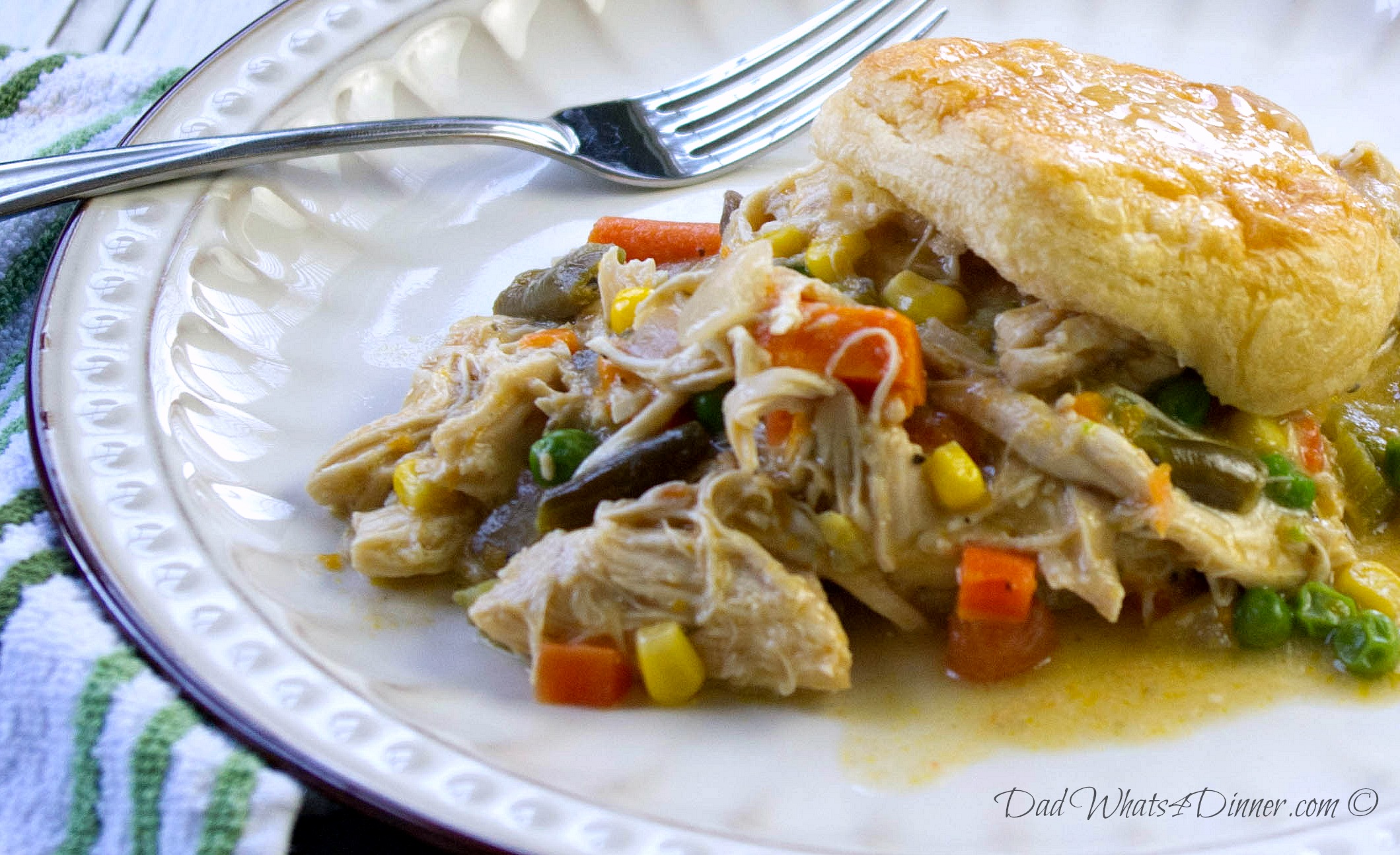 Healthy slow cooker chicken pot pie for Healthy slow cooker chicken recipes