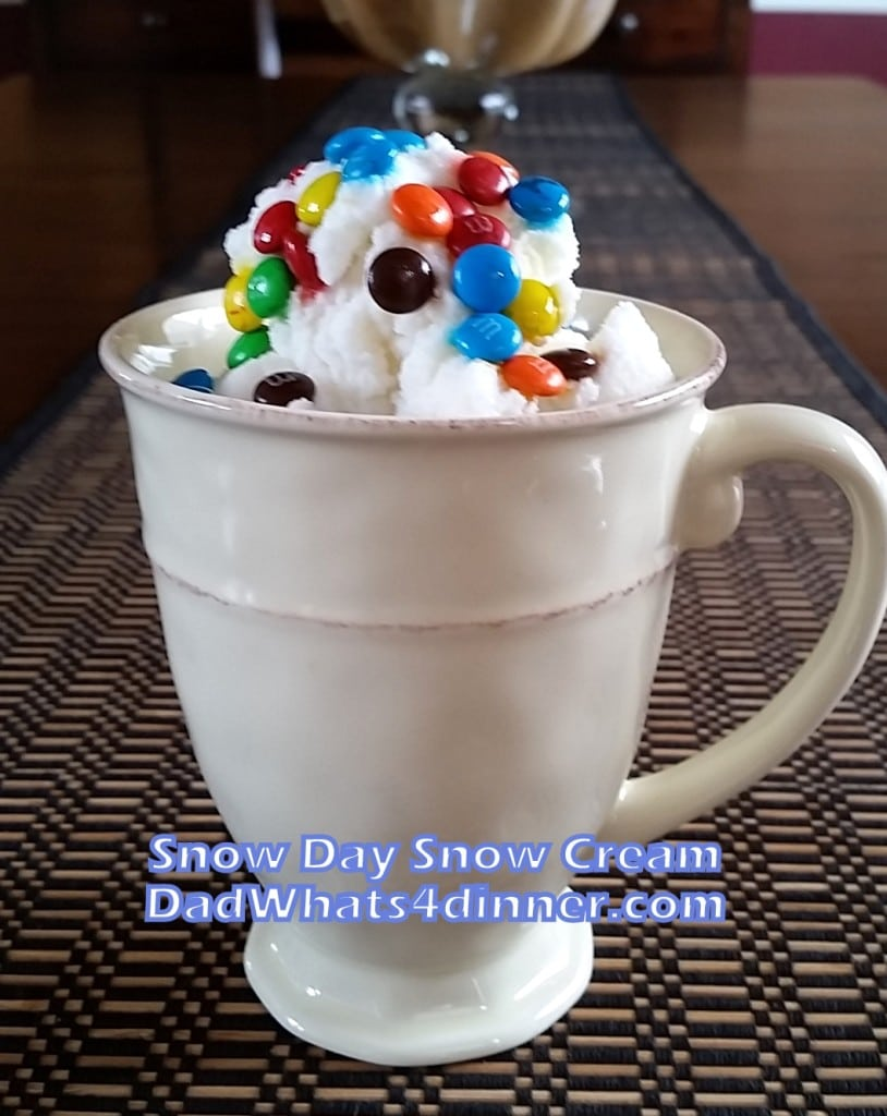 Snow Day Snow Cream \ Dadwhats4dinner.com