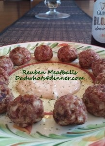Reuben Meatballs | https://dadwhats4dinner.com