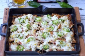 My Chicken Jalapeño Popper Baked Nachos combines two of the best appetizers and turns into one awesome dish to serve a crowd.