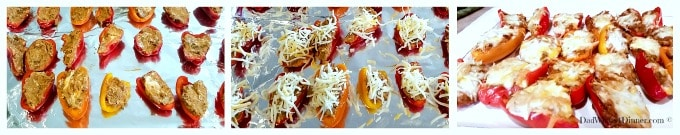 These Chorizo Stuffed Mini Sweet Peppers are a perfect quick appetizer for a summer night gathering with friends. Easy to make and not to spicy.