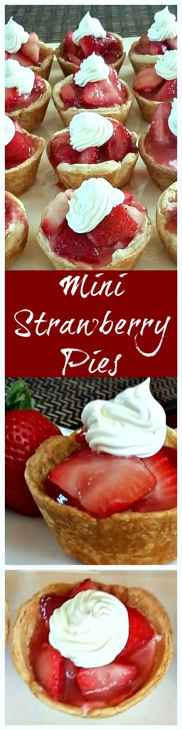 These Mini Strawberry Pies are a must make for Memorial Day, Father's Day or summer cookout.
