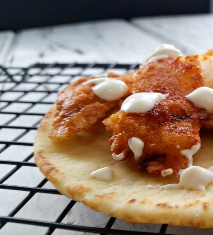 Nashville Hot Chicken Flatbread is a spicy appetizer alternative to the messy original. Perfect for when you want to add a little spice to your life.