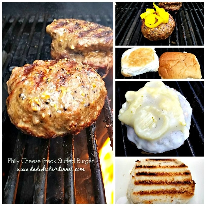 Get your grill ready for Labor Day with this awesome Philly Cheese Steak Burger recipe. It's a great twist on two of my favorites; Philly Cheese Steak and Burgers.
