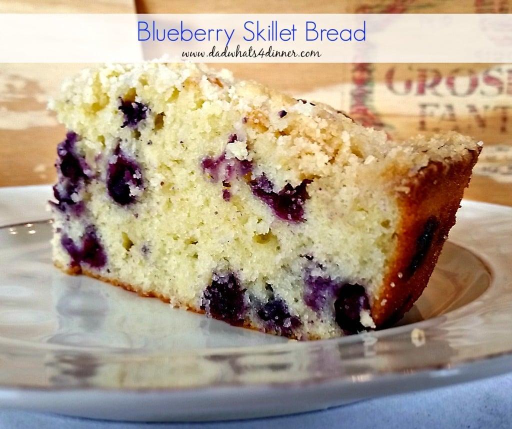 Blueberry Sour Cream Skillet Bread | www.dadwhats4dinner.com