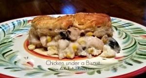 Chicken Biscuit Casserole   www.dadwhts4dinner.com