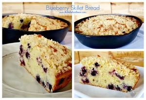 Blueberry Sour Cream Skillet Bread | www.dadwhats4dinner.com