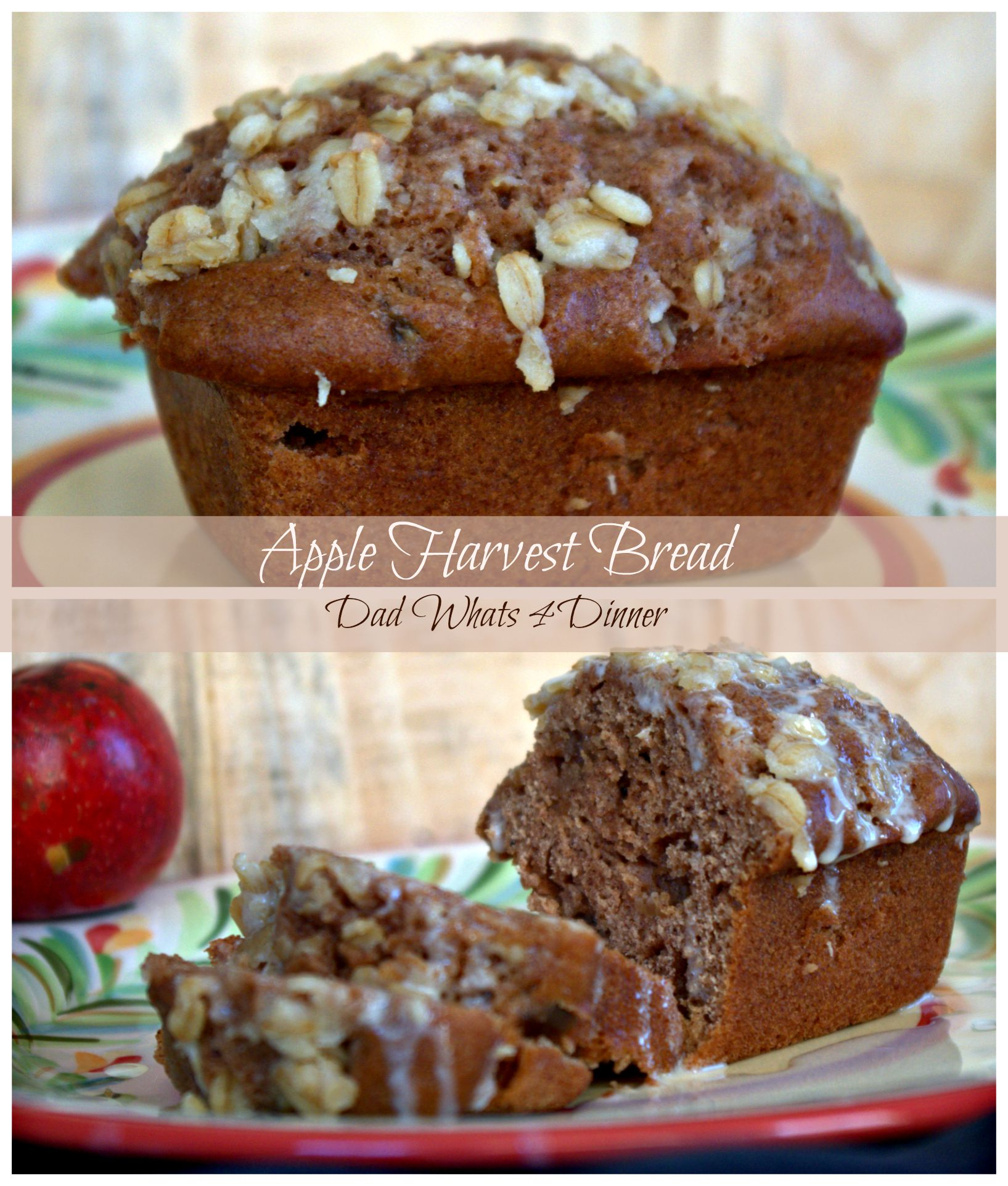 Must make Apple Harvest Bread with Cider Glaze is perfect for fall and a great way to use up all those apples. Great for breakfast or as a midday snack.