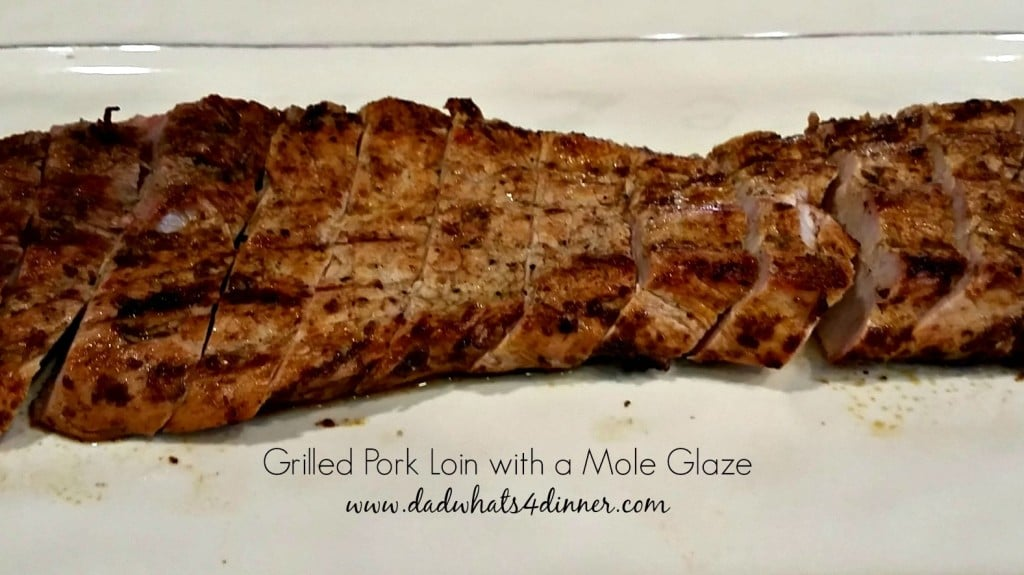 Take grilling to a new level with my Mole Glazed Grilled Pork Loin! Intense deep flavors of the mole grilled to perfection.