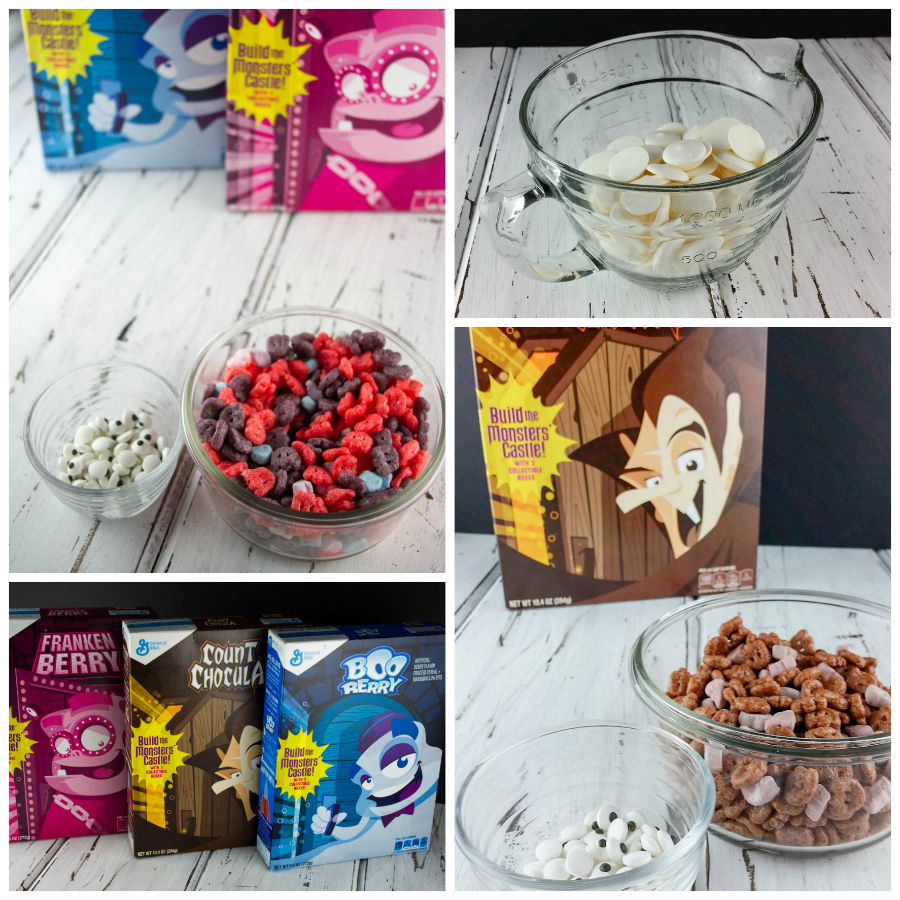 Spooky Monster Bark is a sweet treat using General Mills® Limited Edition Monster Cereals. Perfect for your kids Halloween party. #SpooktacularSnacks #AD