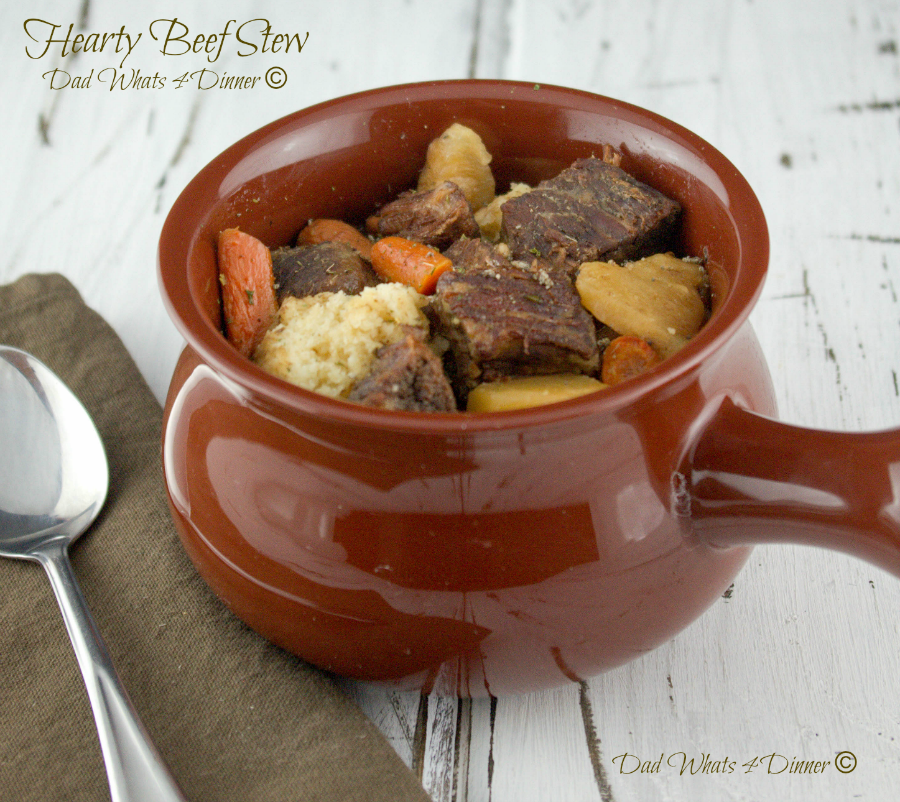 Hearty Beef Stew | Dad Whats 4 Dinner©