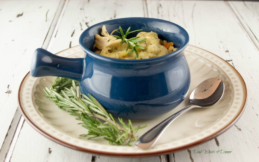 This is hands down the best chicken and dumplings you will ever eat. Let me say that again: This Rosemary Chicken and Dumplings is the best you will ever eat!!