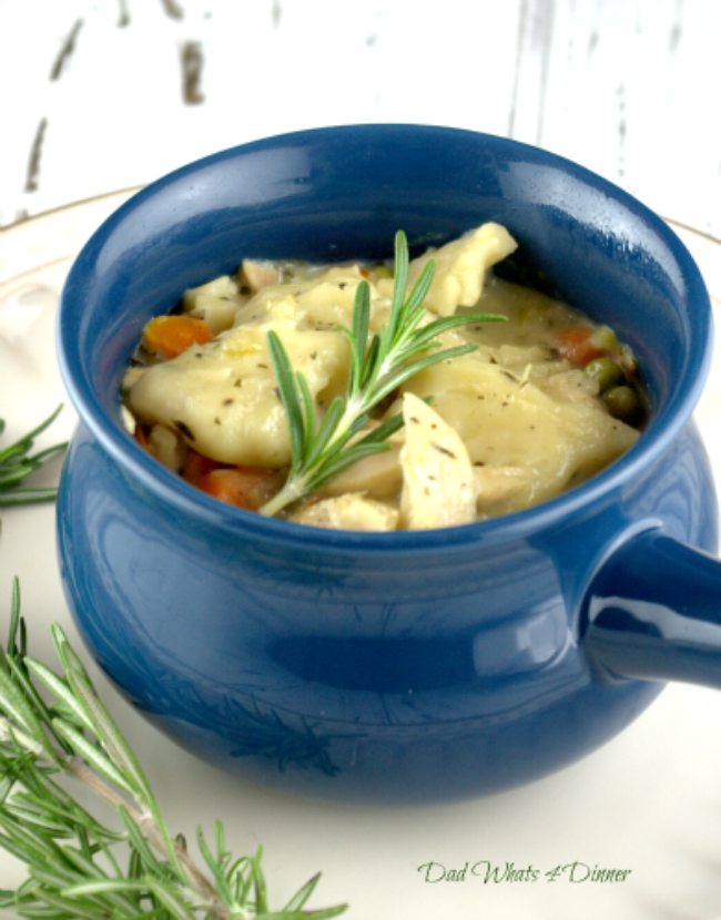 This is hands down the best chicken and dumplings you will ever eat. Let me say that again: This Rosemary Chicken and Dumplings is the best you'll ever eat!
