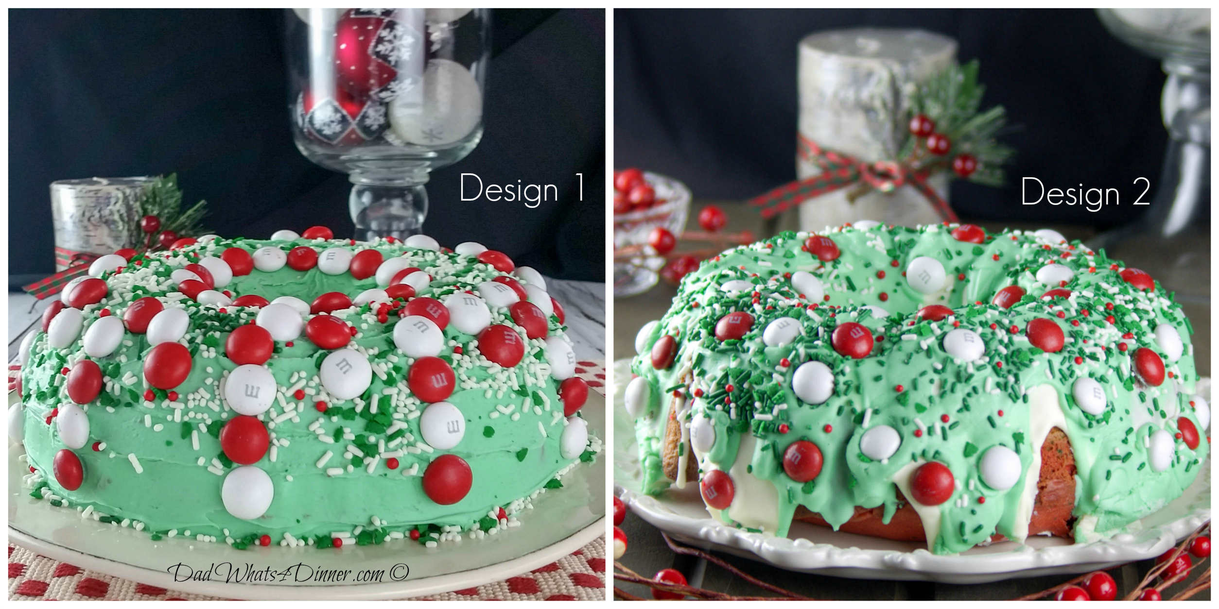 Christmas M&M's® Bundt Cake is the perfect dessert for all of your Holiday gatherings.. Kids and adults will love this festive cake..