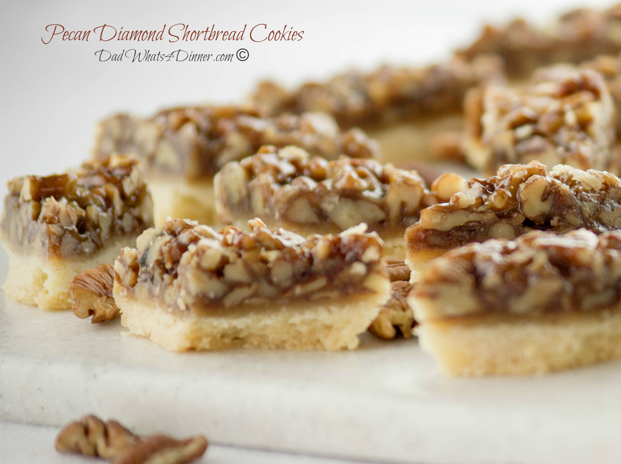 Pecan Diamond Shortbread Cookies | www.dadwhats4dinner.com