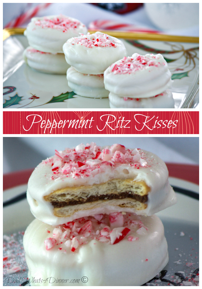 Peppermint Ritz Kisses | www.dadwhats4dinner.com