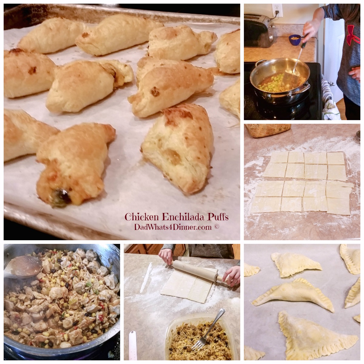 Chicken Enchilada Puffs | https://dadwhats4dinner.com