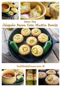 Jalapeno Bacon Corn Muffin Bombs |https://dadwhats4dinner.com