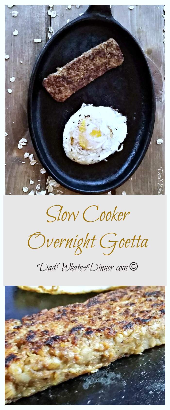 It's time for #Oktoberfest and my Slow Cooker Overnight #Goetta will hit the spot after a fun night of celebrating! #crockpot #slowcooker #breakfast www.dadwhats4dinner.com