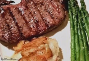 Here is the Valentine's Day Steak Dinner I promised for you to impress your significant other on Valentine's Day. Why go out when you can show your loved one your appreciation with food from the heart.