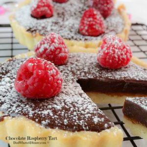 Chocolate Raspberry Tart | https://dadwhats4dinner.com