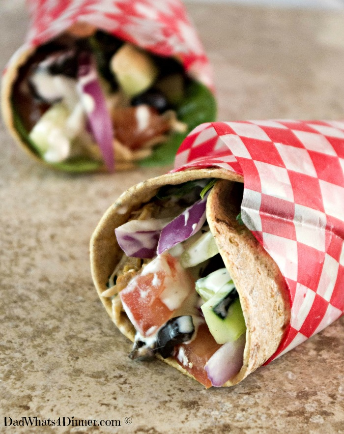 Crock Pot Chicken Ranch Fiesta Wraps is a simple 3 ingredient crock pot recipe which will make your family smile