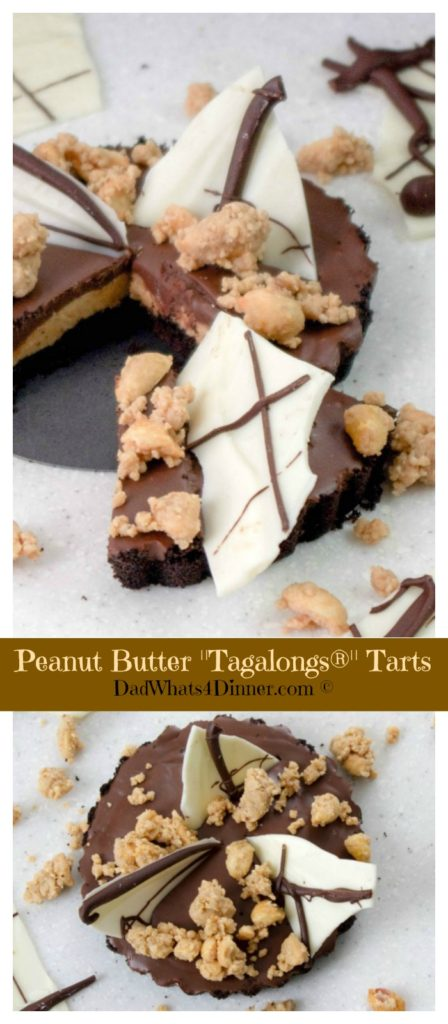 "Keep your Girl Scout cookie fix going long after you have thrown the boxes away with my Peanut Butter Tarts ""Tagalongs"" . Peanut butter, chocolate, and a chocolate wafer crust, can't be beat."