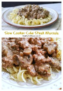 Slow Cooker Cube Steak Marsala | https://dadwhats4dinner.com