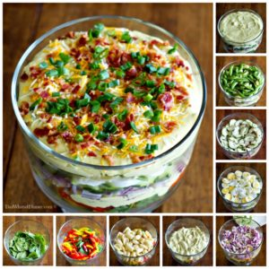 The dressing in my Creamy Deviled Egg Layered Pasta Salad has to be the best dressing I think I have ever made. Creamy, eggy, tangy and bold!