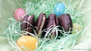 """An alternative to store bought Easter candy, these Whoopee Pies would be the perfect treat from the """"Bunny""""."""