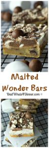Must make Malted Wonder Bars are a perfect way to use up the leftover Easter candy.