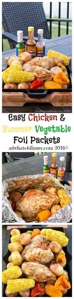 Easy Chicken & Summer Vegetable Foil Packets Pin