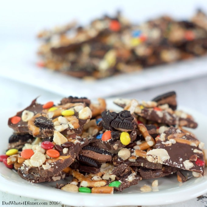 Sweet, Salty, chocolaty and Crunchy! Cowboy Bark sounds like the perfect snack for any occasion.