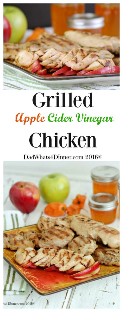 Enjoy apple harvest season by making my Grilled Apple Cider Vinegar Chicken with a hint of heat from pepper jelly. Incredibly moist and packed with bold flavors.