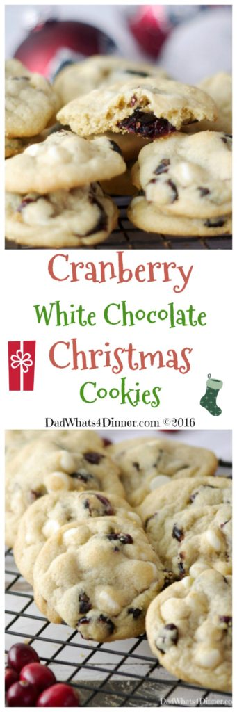 Cranberry White Chocolate Christmas Cookies are the perfect cookie for this magical time of year. All the colors and flavors of the season!