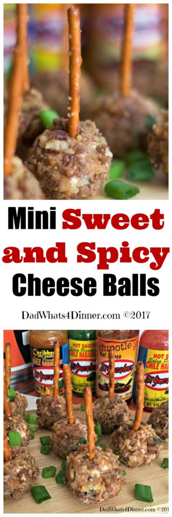 It's Game Time my friends and these Mini Sweet and Spicy Cheese Balls are the perfect combination of flavors in an individual appetizer.
