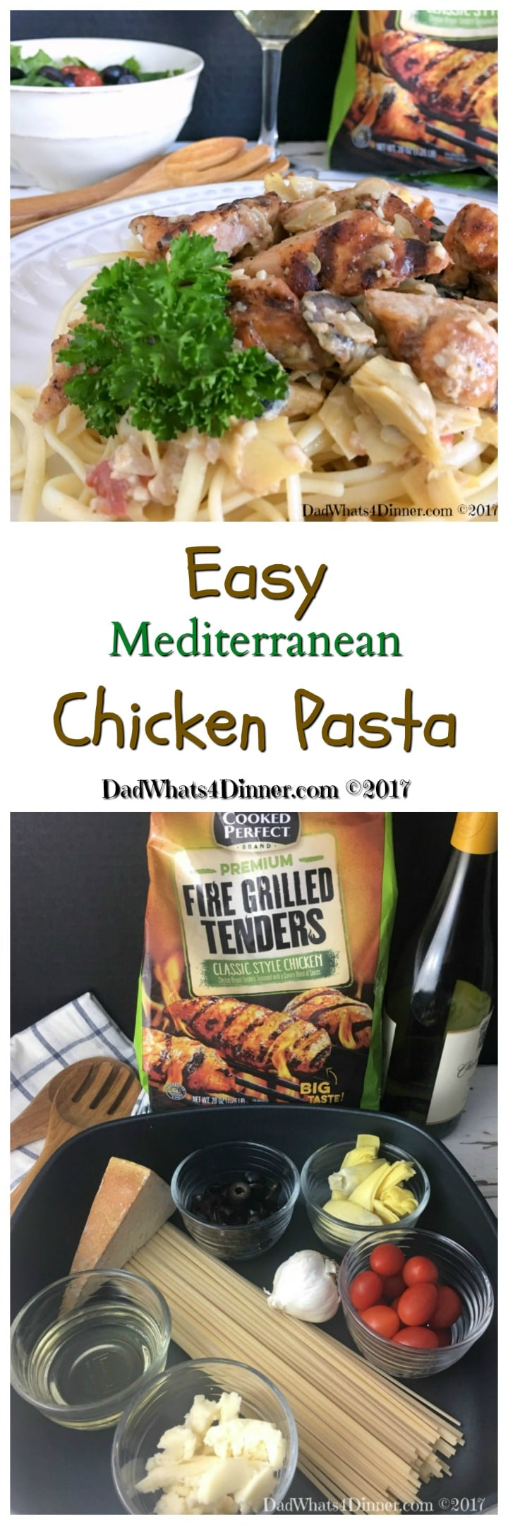 When you need a healthy, kid friendly, 30 minute meal try my Easy Mediterranean Chicken Pasta.  #ad #recipe @cookedperfect @kroger