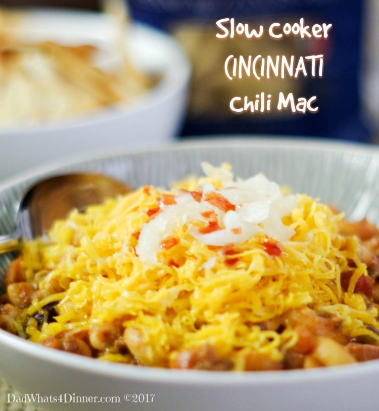 Slow Cooker Cincinnati Chili Mac is comfort food at its finest. Slow Cooked Chili with a Cincinnati flair throw in some pasta and cheese and you set.