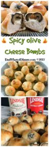 Get your GameDay on with these Spicy Olive Cheese Bombs. Your guest will love my quick and simple appetizer, bursting with flavor! | dadwhats4dinner.com #ad