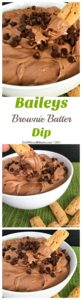No need to lick the bowl and spatula the next time you make brownies, instead skip the baking and try my Baileys Brownie Batter Dip instead.