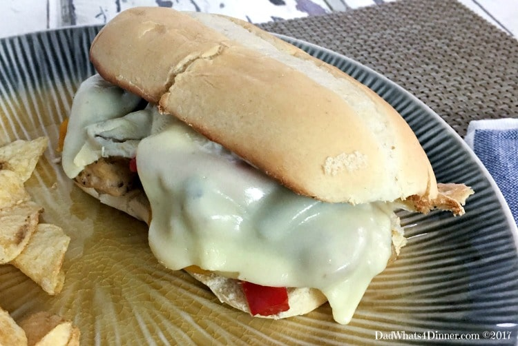 Sheet Pan Philly Chicken Cheesesteak is a quick and easy way to get your cheesesteak fix at home. Clean up is a snap using only one sheet pan.