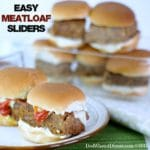 When you need to feed meatloaf to a crowd, these Easy Meatloaf Sliders will hit the spot. Very moist and flavorful in a tasty little slider!