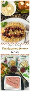 Just becausethere are onlytwo of you doesn't mean you can'thaveanElegant Thanksgiving Dinner for Two that can be on the table in around 30 minutes. #ad #Thanksgiving #Dinner #Premium #AlexiaVeggieSides