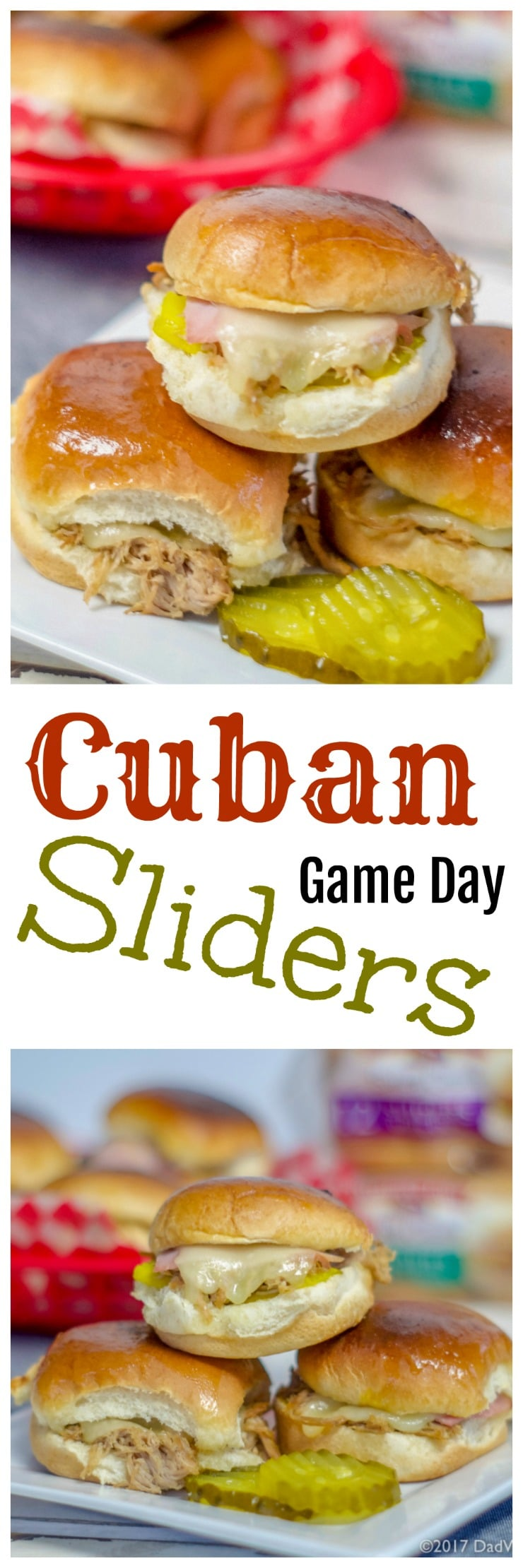 When you want a change from the ordinary hamburger slider,try these Instant Pot Cuban Sliders, sure to be a game day winner. All the flavor of a great Cuban including fall off the bone pork shoulder, ham, swiss cheese, pickles, mustard, on a @PepperidgeFarm® soft slider bun.   #Ad #LittleBunsBigWin #BakedWithCare #Gameday #Sliders #Instantpot