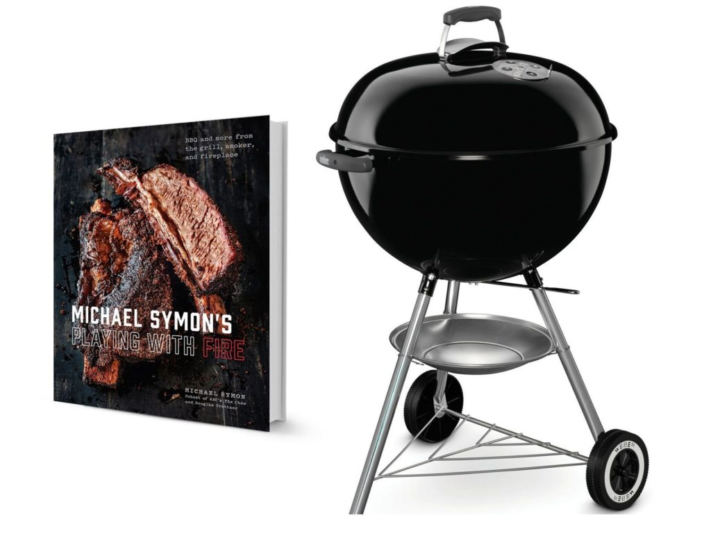 Michael Symon's New Cookbook and Weber Kettle grill giveaway prizes from dad whats 4 dinner www.dadwhats4dinner.com