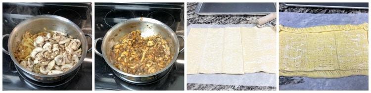Caramelized Onion Bacon Cheese Tarts